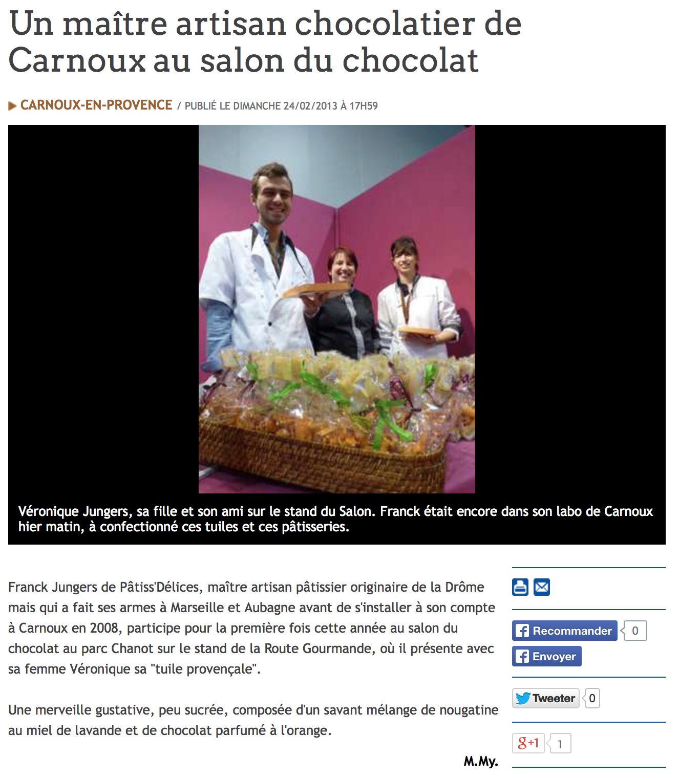 Salon du Chocolat 2013 avec La Route Gourmande